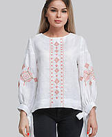 Вишукана жіноча вишиванка білого кольору, фото 1