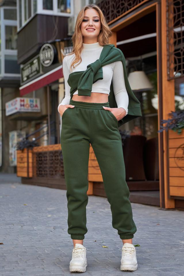 Тёплые женские штаны на флисе