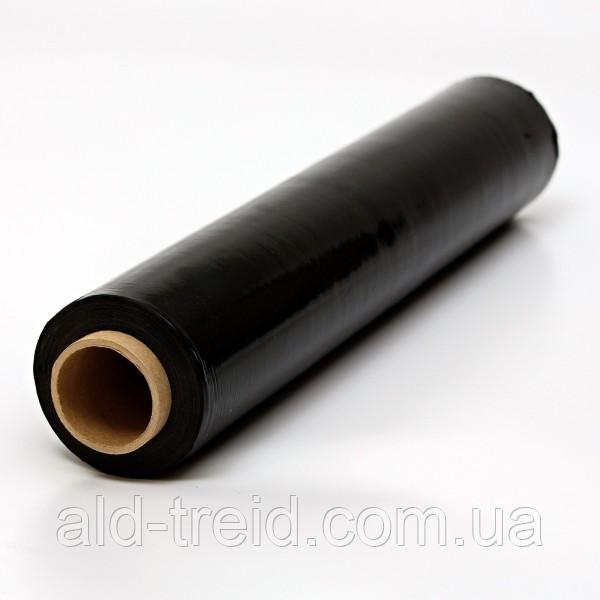 Стрейч пленка 500*20 мкм ЧЕРНАЯ (2,00 кг), 6 рулонов/ящик