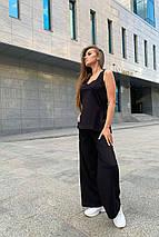 костюм женский Modus Лайм трикотаж двунитка турция тонкий прогулочный костюм 9402, фото 3