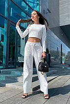 костюм женский Modus Ван лав трикотаж двунитка турция тонкий прогулочный костюм 9511, фото 3