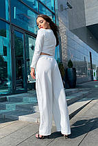 костюм женский Modus Ван лав трикотаж двунитка турция тонкий прогулочный костюм 9511, фото 2