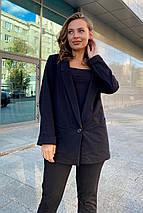 пиджак женский Modus Редми трикотаж двунитка турция тонкий жакет 9638, фото 3