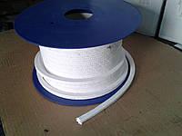 Набивка сальниковая из ПТФЕ 8х8 мм (фторопластовая, тефлоновая)