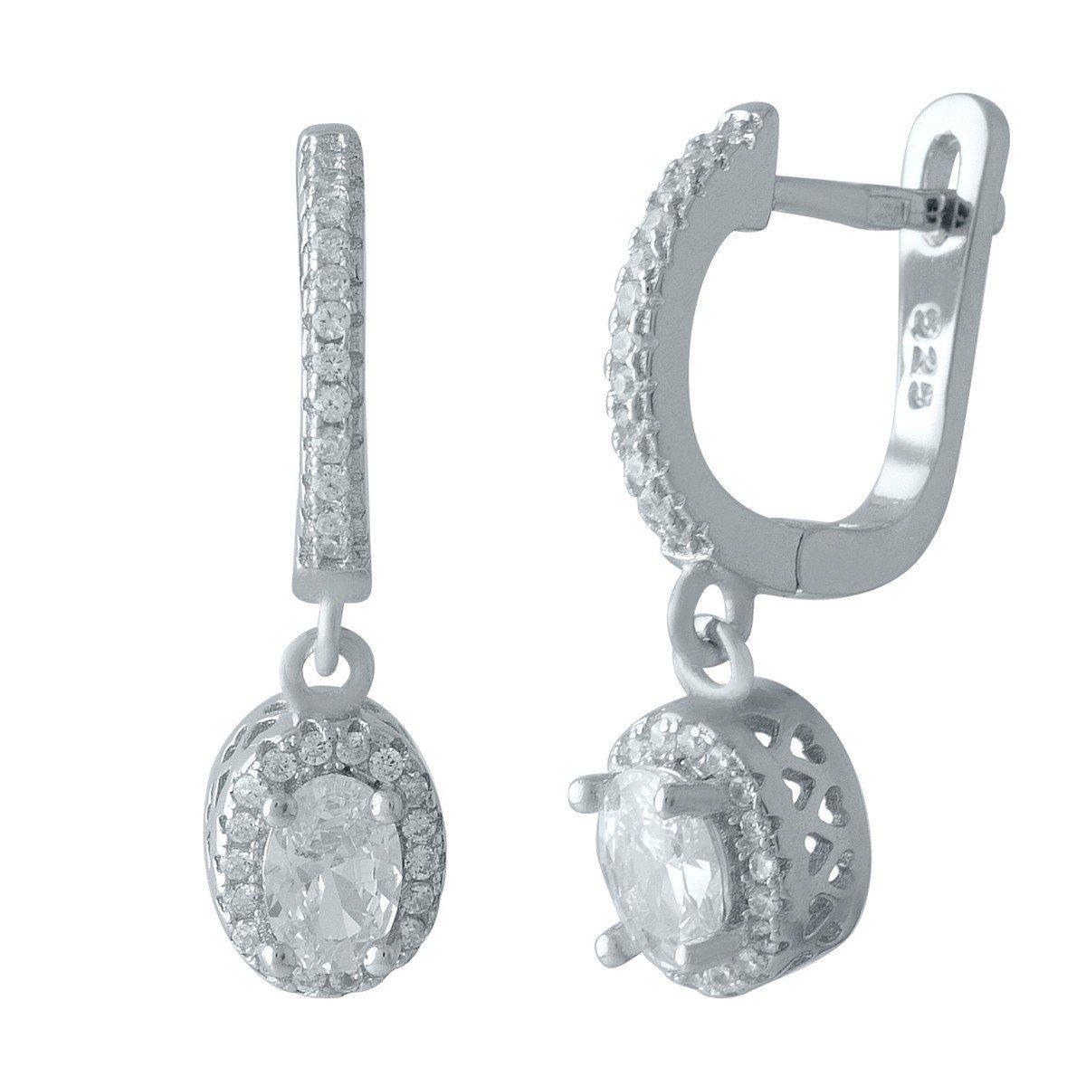 Серебряные серьги DreamJewelry с фианитами (2001744)