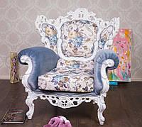 Мягкое эко-кресло в стиле Барокко со склада фабрики, элитная эко-мебель