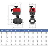 Effast Кран шаровый EFFAST d20 мм (BDREBK1YA0200) с электроприводом PTFE/EPDM, фото 2