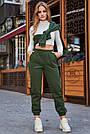Тёплые женские штаны на флисе хаки, фото 2