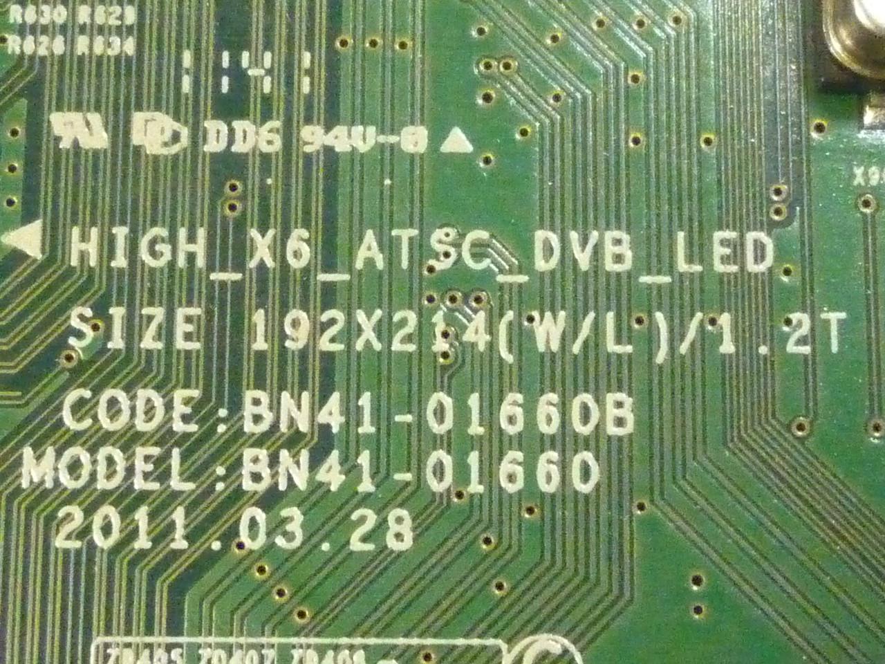 Main-Board (материнская плата) BN41-01660B для телевизоров Samsung UExxD55xx.