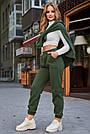Тёплые женские штаны на флисе хаки, фото 3