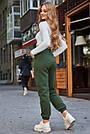 Тёплые женские штаны на флисе хаки, фото 4