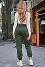 Тёплые женские штаны на флисе хаки, фото 5