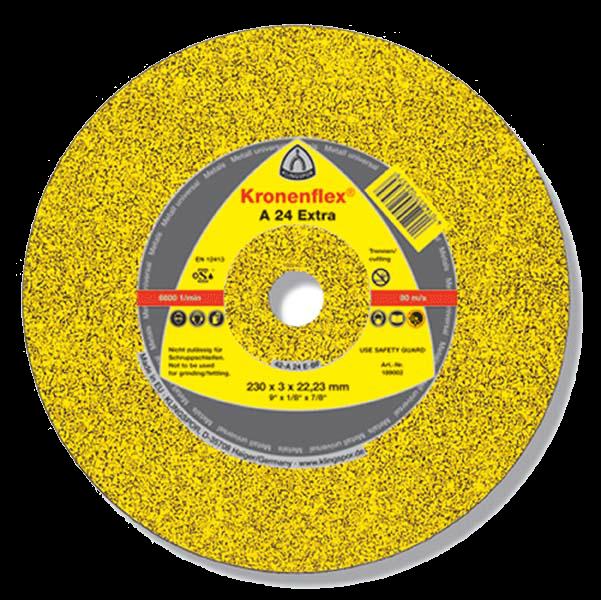 Круг шлифовальный по металлу Kronenflex A24 Extra 125*6*22