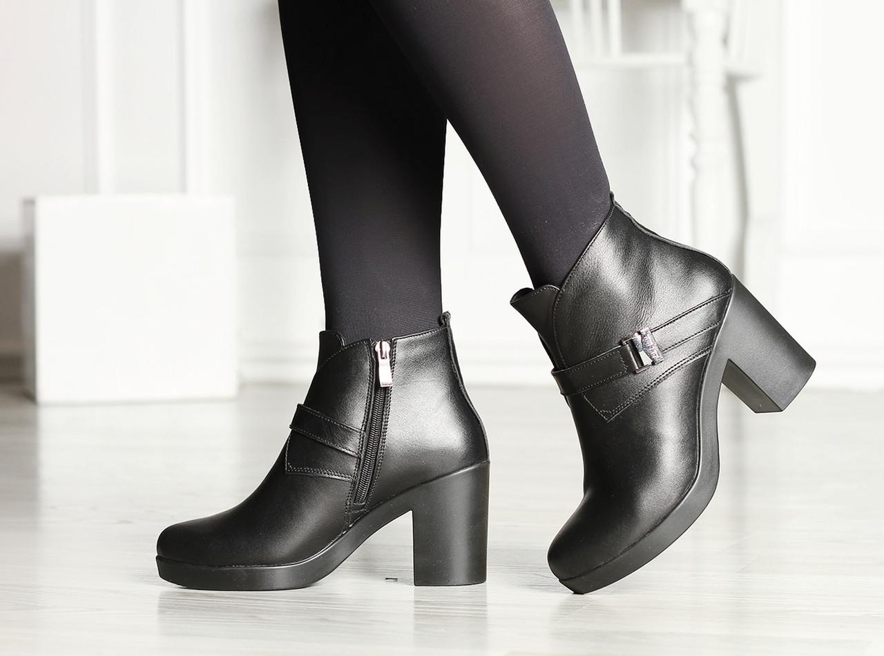Женские осенне-весенние ботинки кожаные 38,40,41