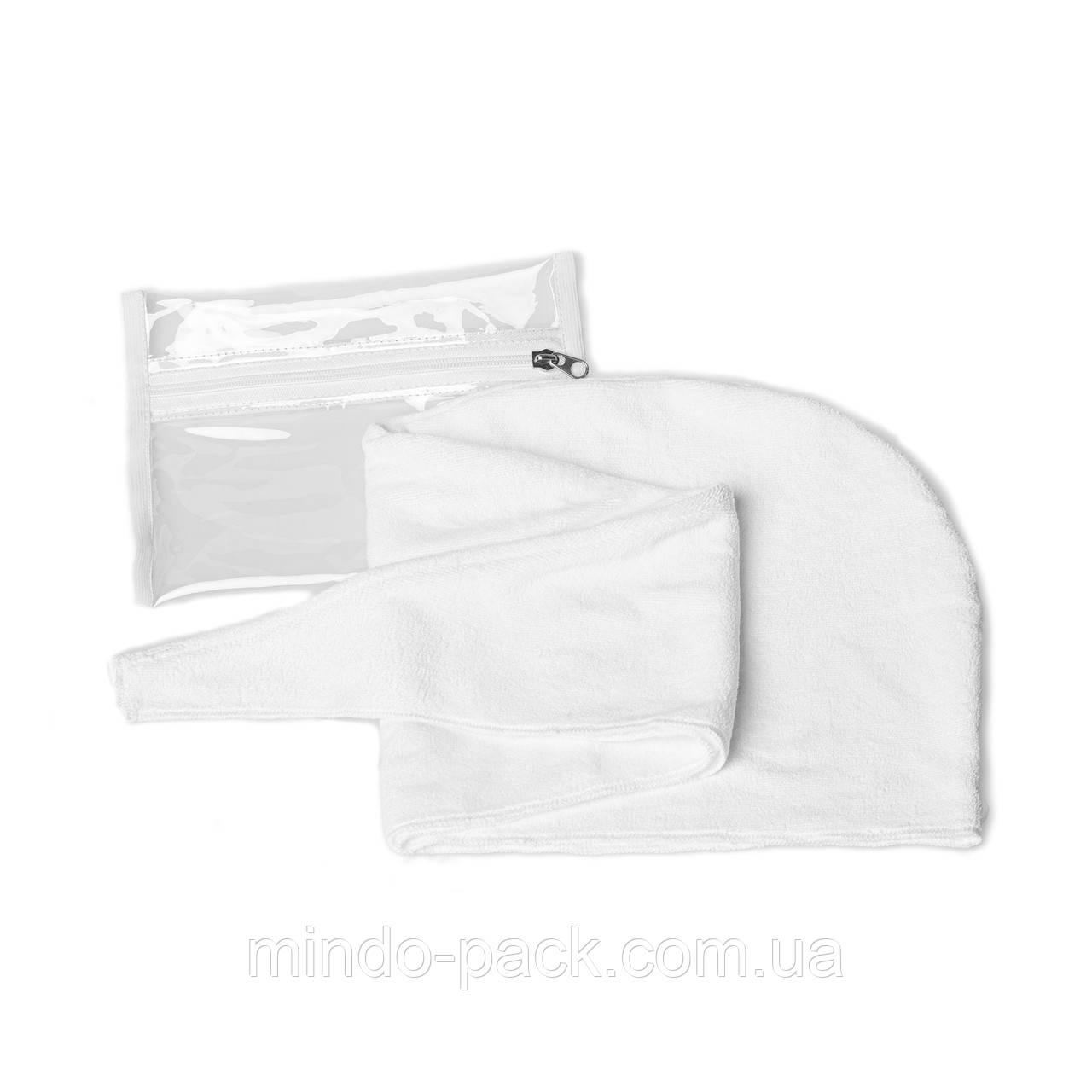 Полотенце - чалма для сушки волос из микрофибры (белая)