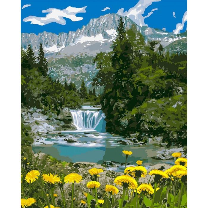 Картина по номерам Горный водопад ТМ Идейка 40 х 50 см КНО2283