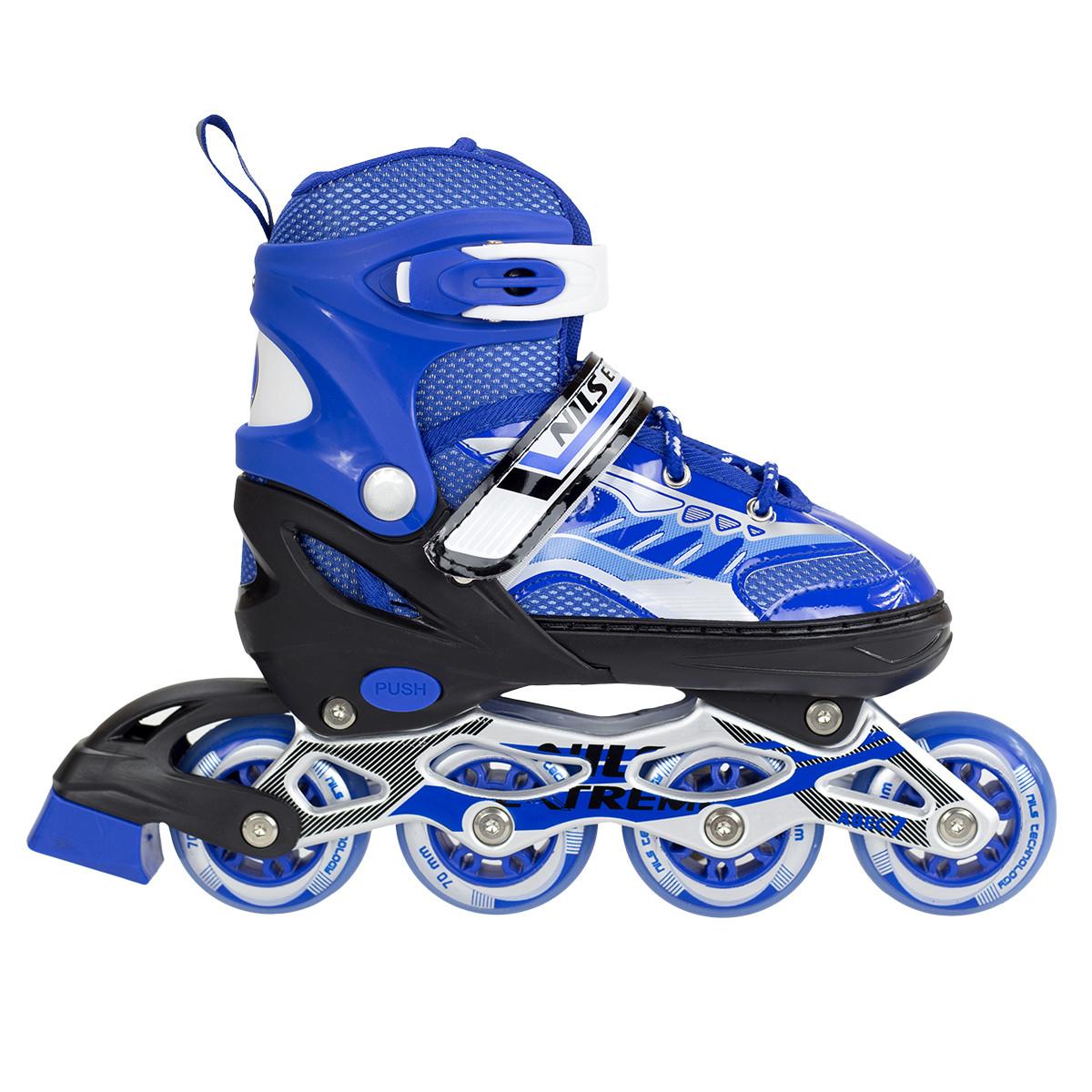 Купить Роликовые коньки и лыжероллеры, Роликовые коньки Nils Extreme NJ1828A Size 31-34 Blue