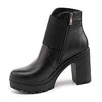 Демисезонные черные ботинки из натуральной кожи  39, 41, фото 1