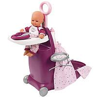 Игровой набор Smoby Toys Baby Nurse Прованс раскладной чемодан 3 в 1 с аксессуарами (220346), фото 1