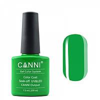 Гель-лак CANNI 160 ярко-зеленый неоновый, 7,3 ml, фото 1