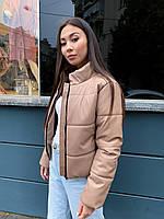 Куртка женская дутая из эко кожи