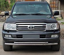 Кенгурятник двойной ус на Toyota Land Cruiser 100 (1997-2007) Тойота Ленд Крузер
