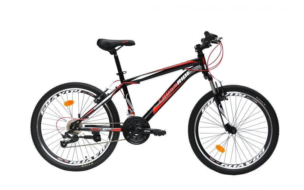 """Велосипед 24 МТВ ST CROSSRIDE """"SKYLINE"""" сталь """", 21 швидкість (чорний, салатовий, оранжевий)"""