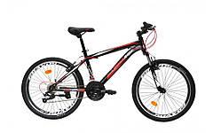 """Велосипед 24 МТВ ST CROSSRIDE """"SKYLINE"""", сталь ″, 21 скорость (черный, салатовый, оранжевый)"""