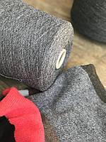 100% мериносовая шерсть, Supergeelong, Итальянская пряжа, Темно серый