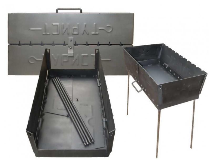 Мангал-чемодан на 10 шампуров