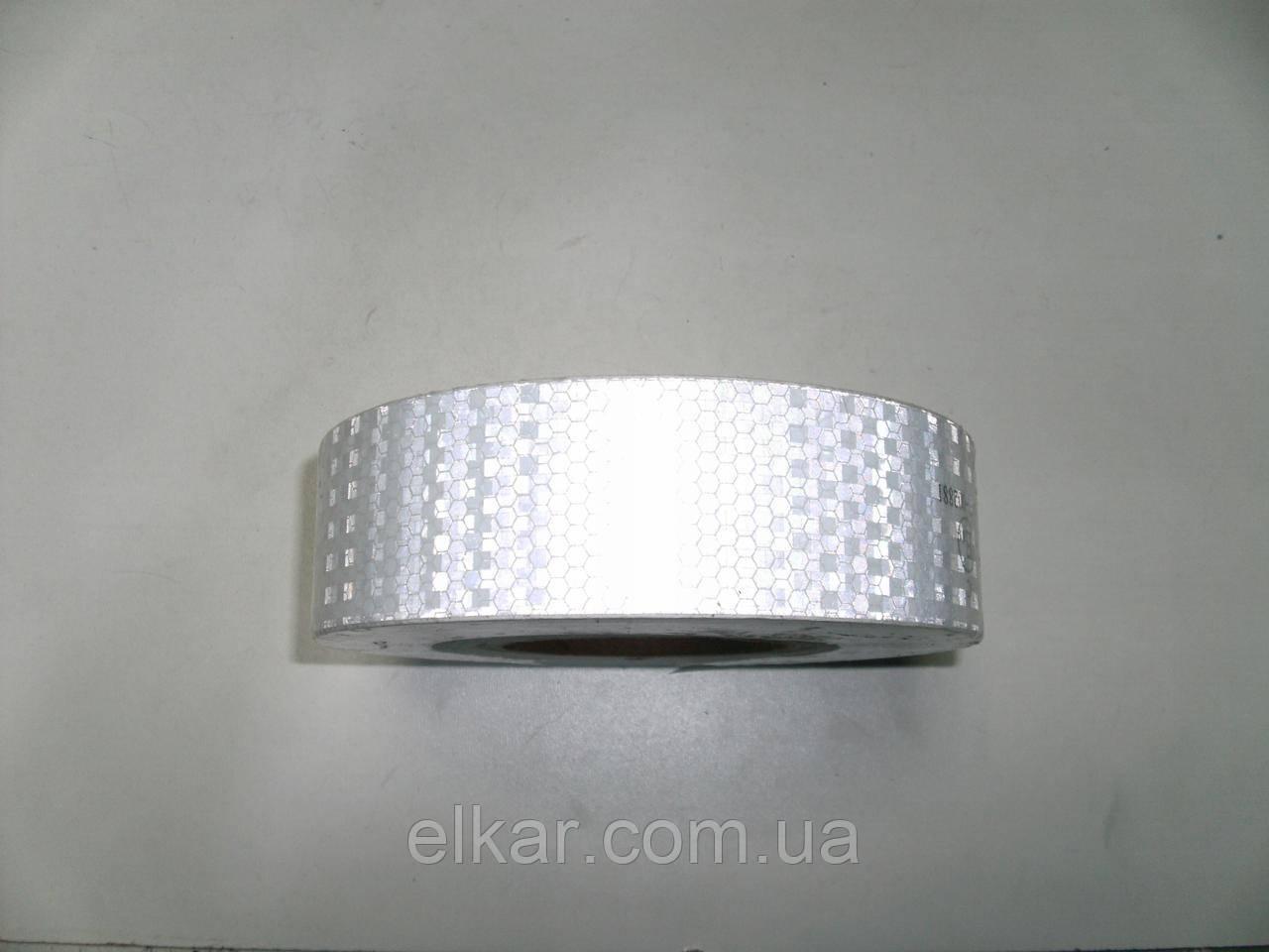 Стрічка світловідбівна полімерна біла (рулон)