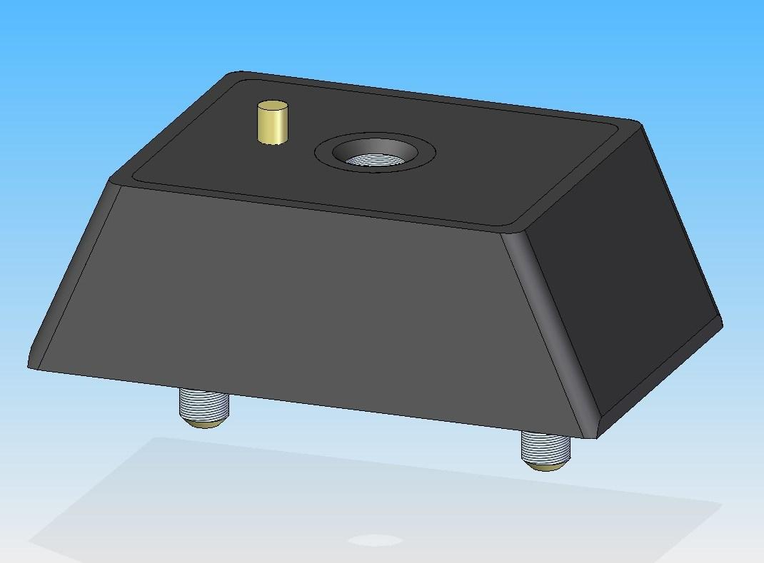 Подушка двигателя ГАЗ 3102, 3302 передняя, Эксперт (пр-во АТР-Холдинг) 3102-1001020