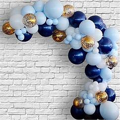 Гирлянда из шаров своими руками - голубая