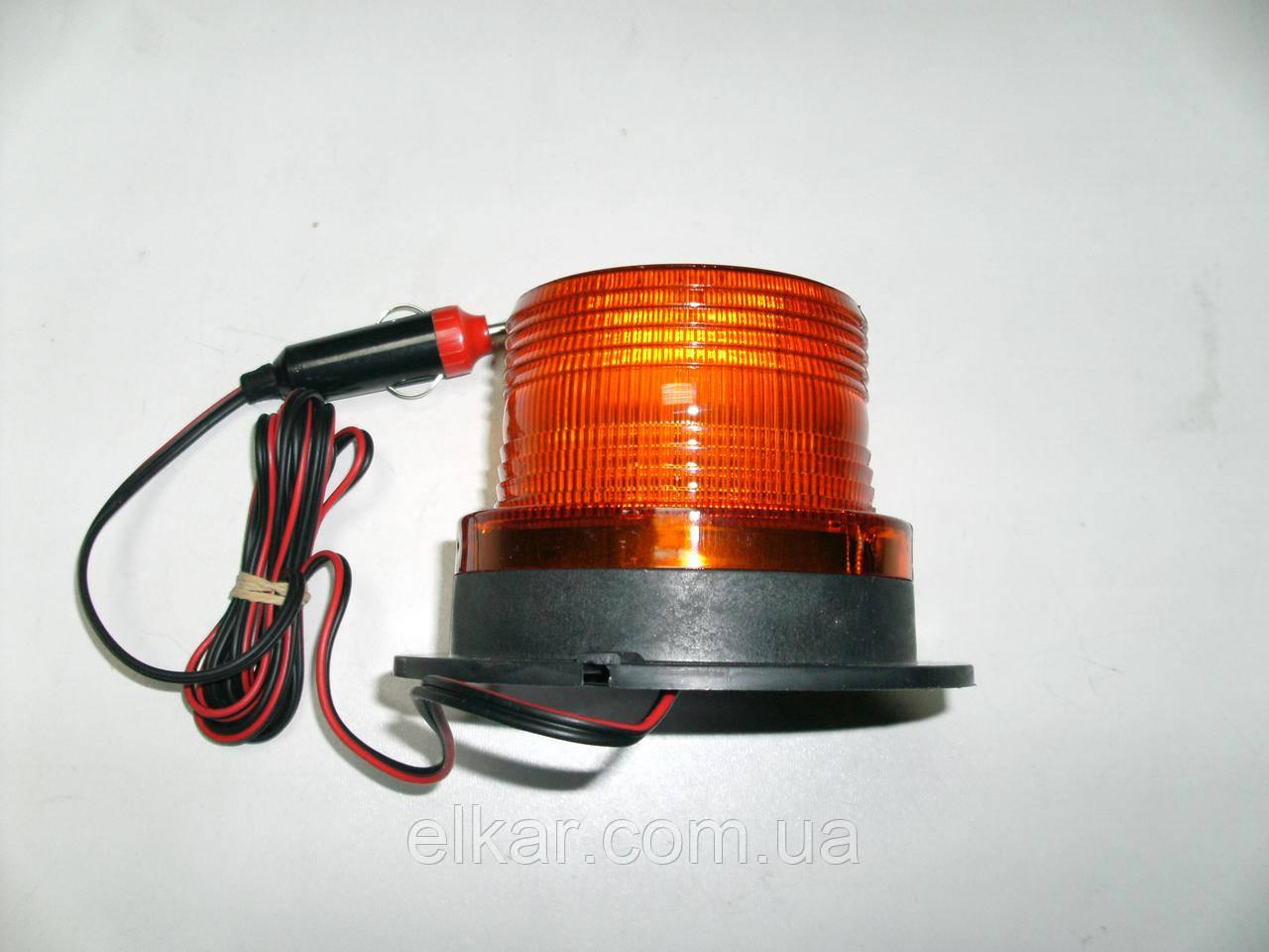 Ліхтар проблисковий (магнітний) h=87мм,Ø=129мм 12-24В LED TR-11