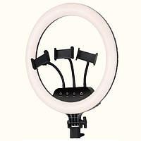 Кольцевая светодиодная LED лампа RIAS LS-360 36см на 3 держателя с пультом ДУ (2_009791)