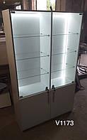 Широкий шкаф с подсветкой Модель V1173 белый, фото 1