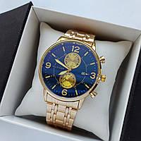 Мужские наручные часы Tommy Hilfiger, золотые с черным циферблатом, антибликовое покрытие, дата - код 1728, фото 1