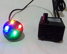 Насос для фонтана с LED подсветкой 5Вт