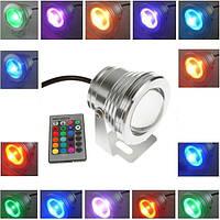 Мультицветной линзовый прожектор с пультом 10 Вт 12В