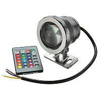 Светодиодный цветной прожектор с пультом 5 Вт 220В