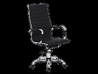 Офисное вращающееся кресло Q-040 Signal, материал: экокожа, цвет: белый черный