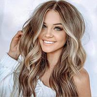 Женский парик длинный блонд сан тач мелирование