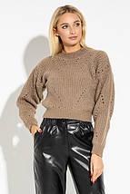 Укороченный женский вязаный свитер PF-4602-02, фото 3