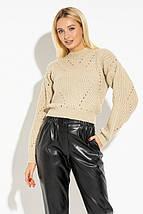 Укороченный женский вязаный свитер PF-4602-02, фото 2