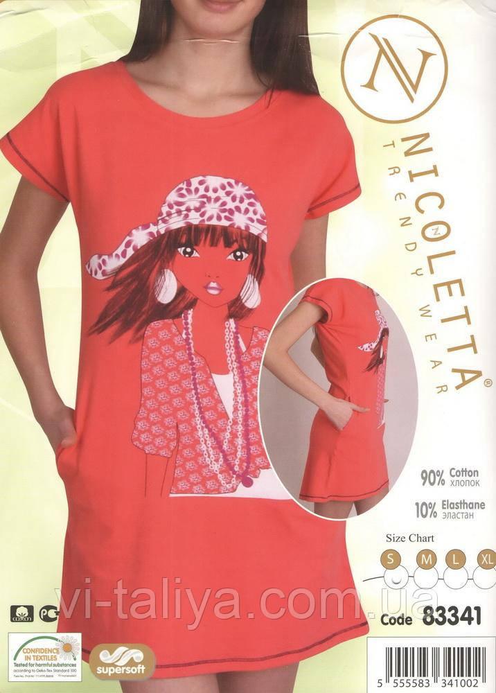 Платье- туника для дома и сна  Nicoletta 83341, фото 1