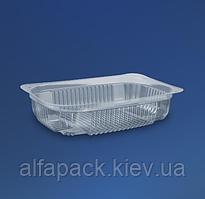 Блистерная упаковка с крышкой ПС-143, 180х130 мм, 500 мл, упаковка 600шт, ( 2,51 грн/шт)