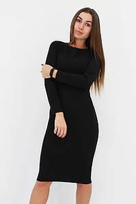 Удобное повседневную базовое платье-футляр Helga, черное