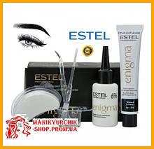Профессиональная краска для бровей и ресниц Estel ENIGMA Эстель Энигма черный 20/20¶,