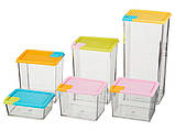 Набор контейнеров для сыпучих продуктов 6 шт., фото 3