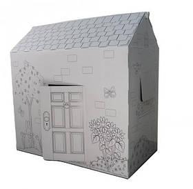 Детский игровой домик-раскраска картонный